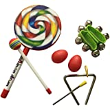 CiCi Baby Musical Instruments for Kids - Lollipop Drum Musical Toys Gift Set