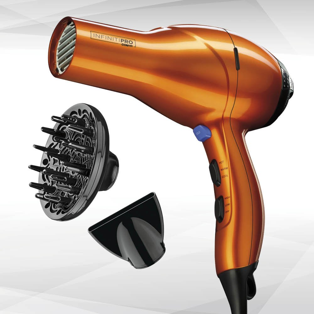 INFINITIPRO BY CONAIR 1875 Watt Salon Performance AC Motor Styling Tool Hair Dryer Orange