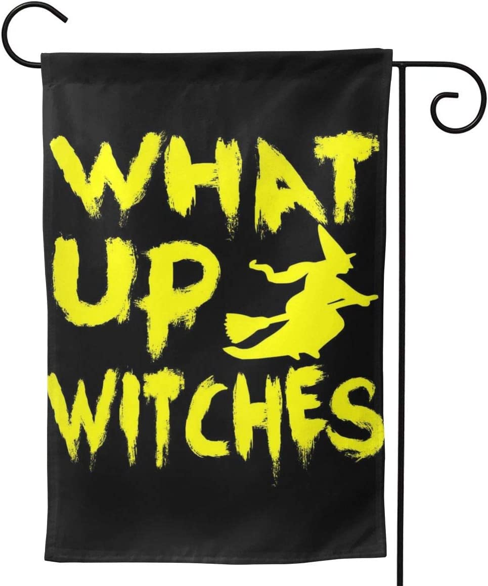 """2 Pcs Garden Flag What Up Witches Poster 28"""""""" X40-Mothers Day, Birthday Gifts for Mom, Dad, Wife, Husband, Daughters, Grandma, Friends"""