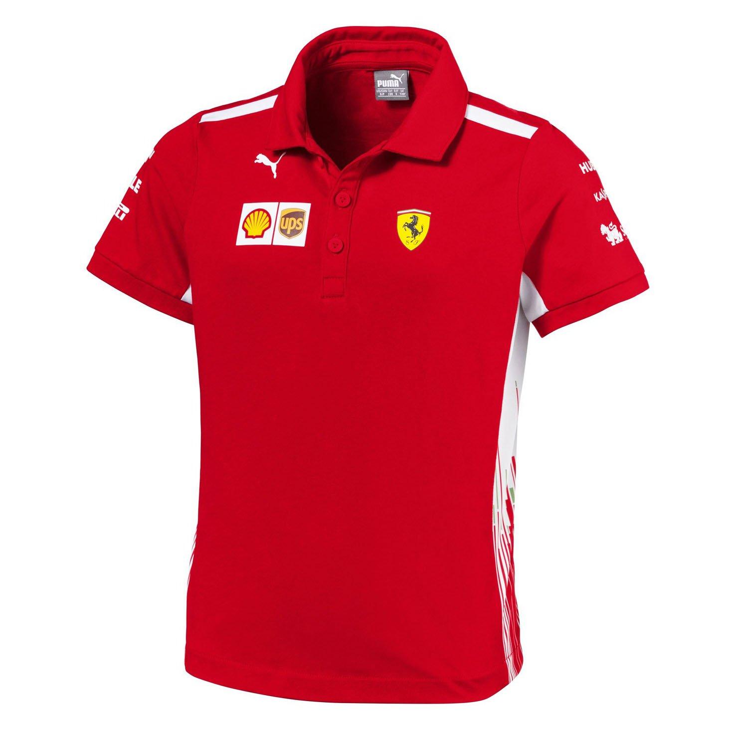 81b37b9ed 2018 Scuderia Ferrari F1 Team Childrens Polo Shirt Kids Boys Sizes Ages  7-14yrs: Amazon.co.uk: Sports & Outdoors