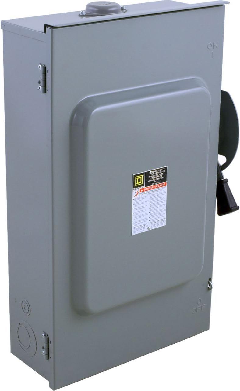 60 AMPERE 250 VOLT NON-FUSIBLE NON-METALLIC AIR CONDITIONER DISCONNECT NEW