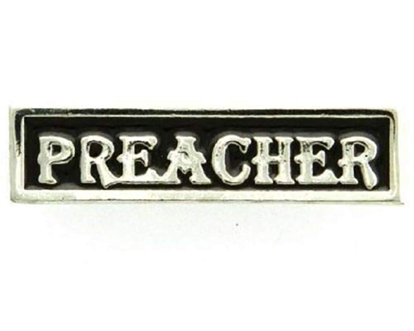 ShopForAllYou pins and brooches (#044) PREACHER Silver-plated Pewter Vest Club Pin 1.75'' x 0.5'' Biker Hat (J949) by AllButtons