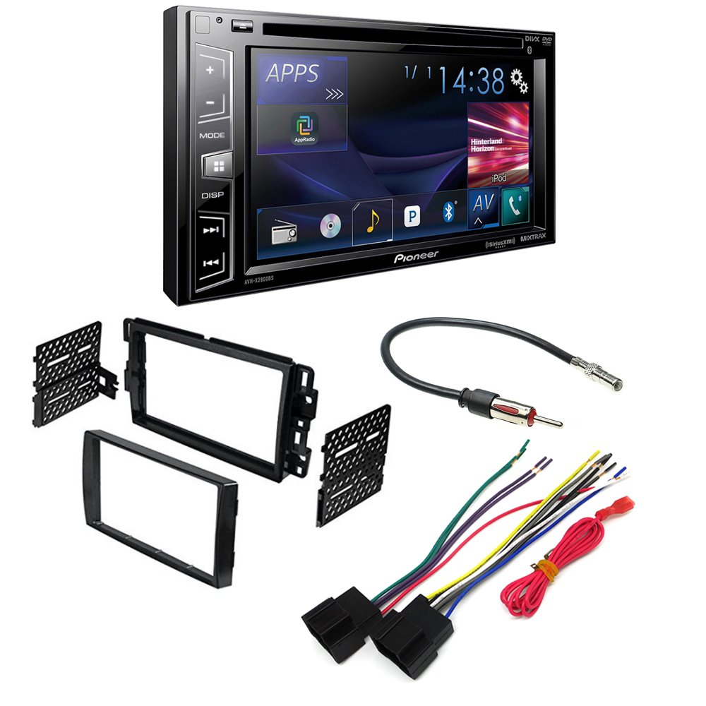PIONEER AVH-X2800BS AFTERMARKET CAR STEREO DASH INSTALLATION KIT W/ WIRING HARNESS ANTENNA SELECT BUICK CHEVROLET GMC HUMMER PONTIAC SATURN SUZUKI VEHICLES by PIONEER, METRA, AMERICAN INTERNATIONAL, SCOSCHE
