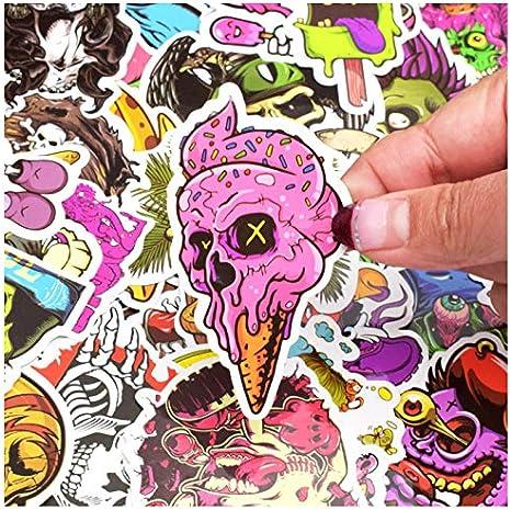 50pcs Terror Series Sticker Graffiti Skeleton Dark Funny Stickers para DIY Sticker en estuche de viaje Laptop Skateboard Guitar Fridge: Amazon.es: Bebé