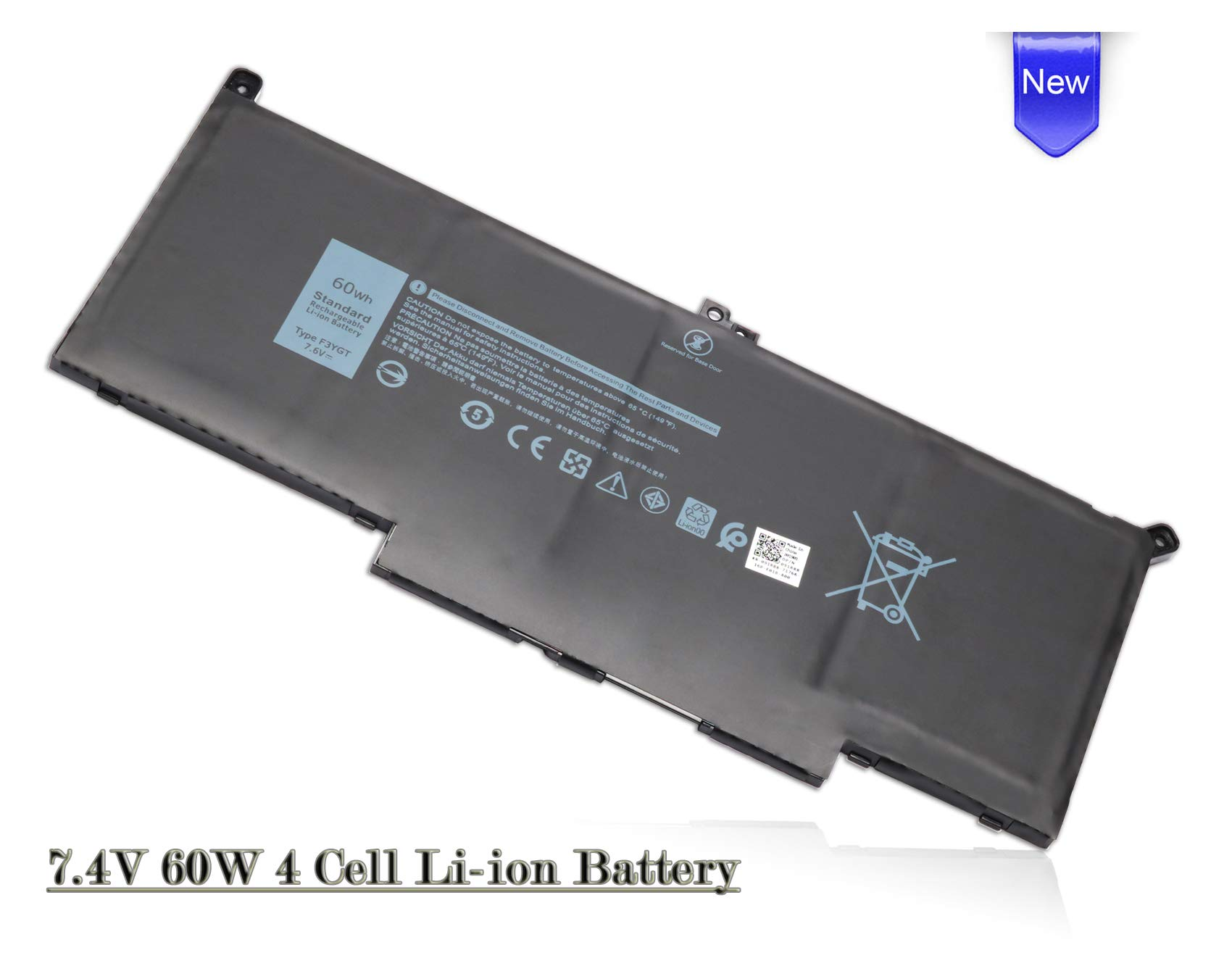Bateria F3YGT para Dell Latitude 12 7000 7280 7290 13 7000 7380 7390 14 7000 7480 7490 Series DM3WC 0DM3WC 2X39G- 60Wh 7