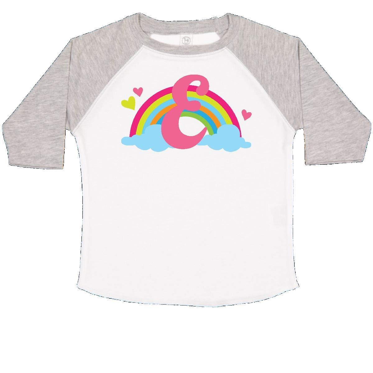 inktastic Monogram Letter E Rainbow Toddler T-Shirt