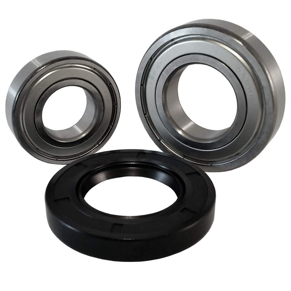Nachi Front Load Whirlpool Washer Tub Bearing and Seal Kit Fits Tub W10285625 (5 year replacement warranty and full HD''How To'' video included)
