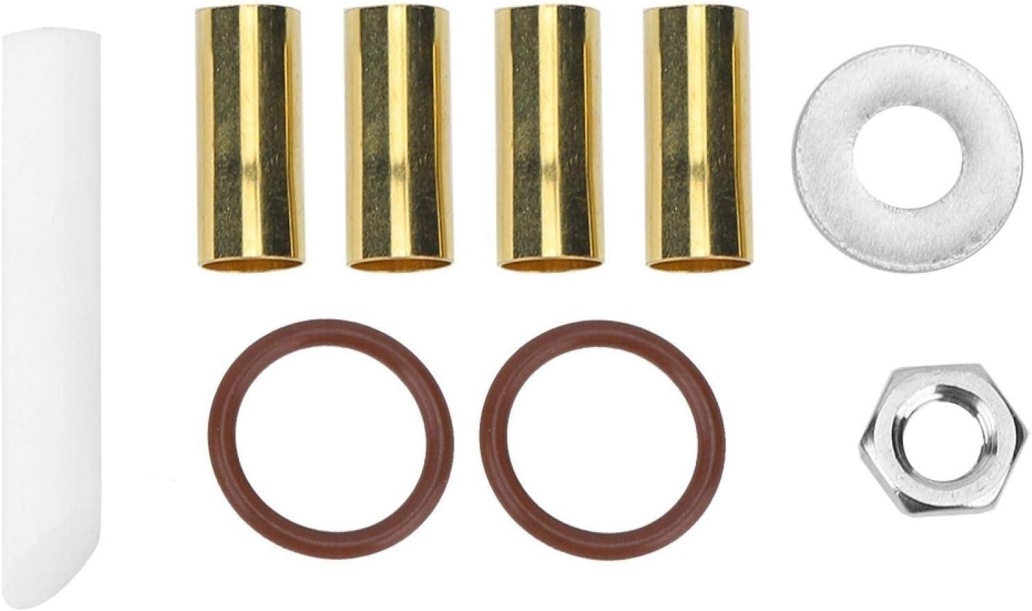 Armarios de eje de balancín de metal, accesorio del equipo del inserto del eje del extremo de la leva gemela 9PCS
