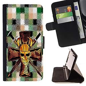 King Case - FOR Samsung Galaxy S5 V SM-G900 - Go your heart takes you - Prima caja de la PU billetera de cuero con ranuras para tarjetas, efectivo Compartimiento desmontable y correa para la mu?eca