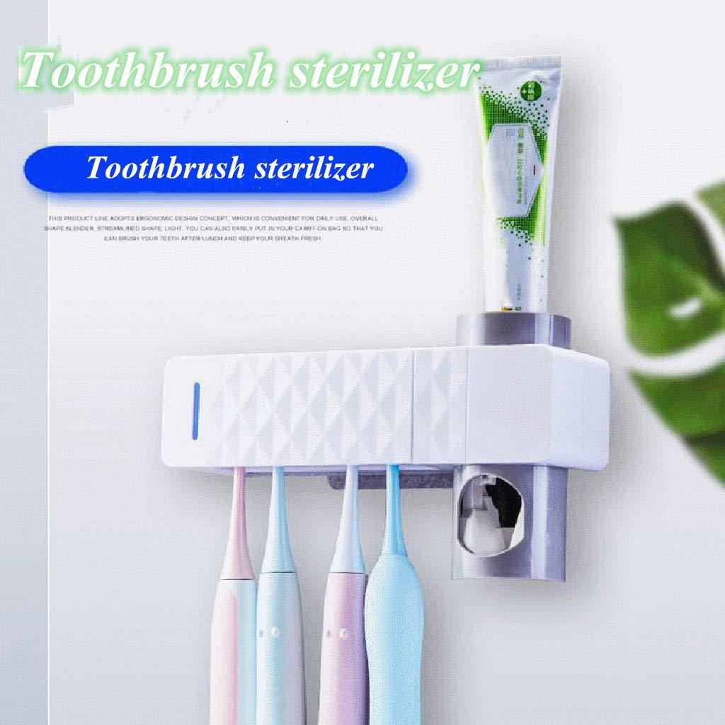 Kidirt Toothbrush Storage Holder Silver Toothbrush Sterilizer USB Dental UV Cleaner
