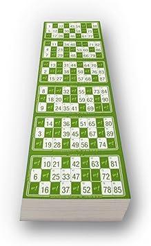 Escobar Impresores Cartones de Bingo troquelados (Verde): Amazon.es: Juguetes y juegos