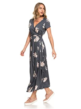 16004707e5 Roxy District Day Robe Longue Manches Courtes Femme, Turbulence Rose and  Pearls, FR :