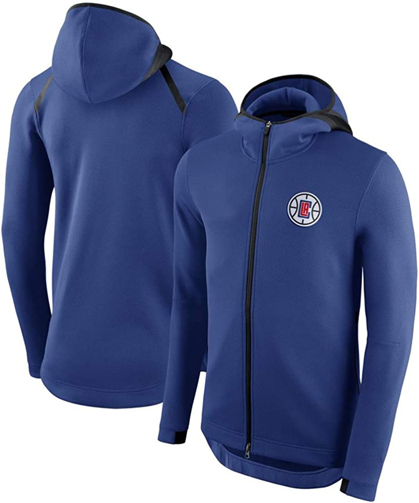 L LXY-Sports Herren NBA Sweatshirt Brooklyn Nets Fan Rundhals Atmungsaktiv Basketball Top Komfortabel Sport Freizeit Hut Reißverschluss Mantel