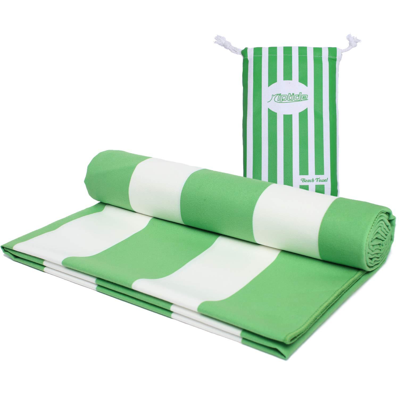 Riptide Beach towel stripes   Microfibre bath towel, travel towel, beach towel   Quick-drying, ultra-light, space-saving