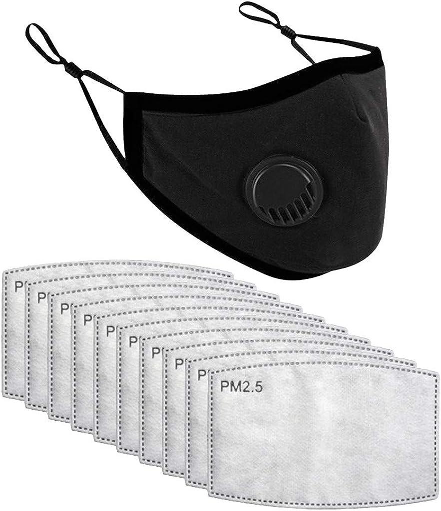 Tela Lavable de Algod/ón Suave Lavable Y Reutilizables 10 PCS Filtro 1 PCS Algodon Reutilizables con V/álvula para ni/ños