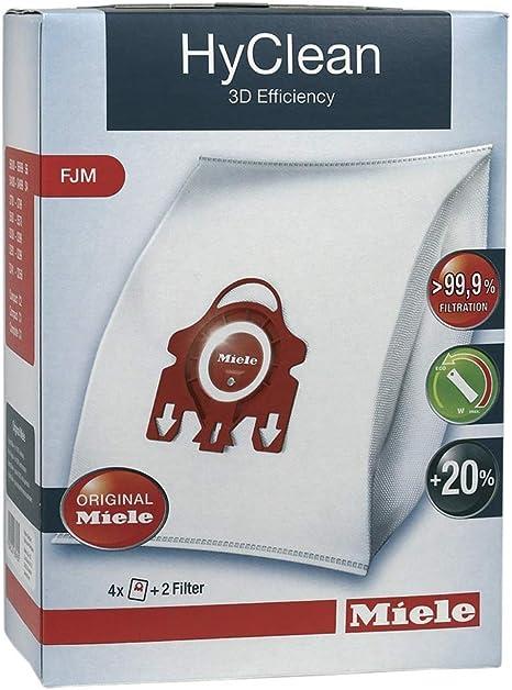 Miele, FJM HyClean 3d - Bolsas para aspiradoras Hoover (1, 2, 3, 4 ó 5 cajas + ambientadores opcionales) 1 Box of 4 FJM Bags: Amazon.es: Hogar