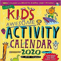 Kid S Awesome Activity Wall Calendar 2020 Lowery Mike Workman Calendars 9781523506439 Amazon Com Books