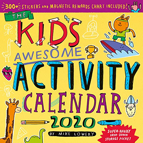 Kid's Awesome Activity Wall Calendar 2020 (Girls Mikes Little Kid)