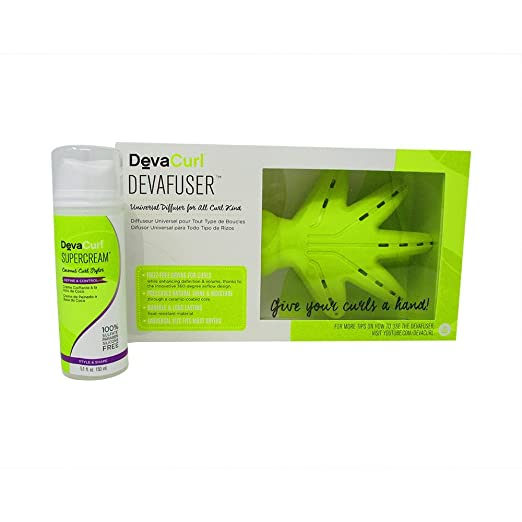 Amazon.com : Bundle-2 Items : Deva Curl Supercream Coconut Curl Styler Cream, 5.1 Oz & DevaCurl Devafuser : Beauty