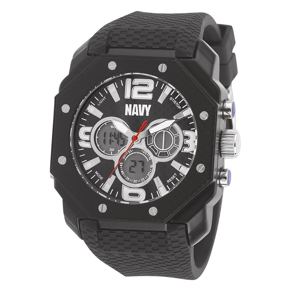 Amazon.com: US Navy Wrist Armor C28 Watch, Blk Dial & Blk Rubber Strap: Watches
