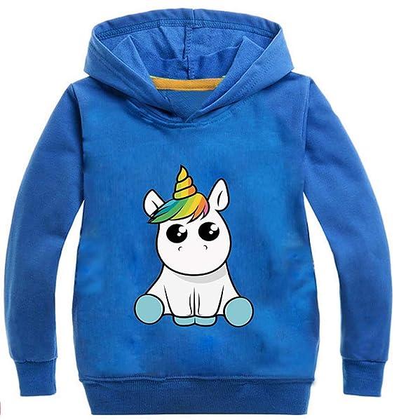 Lesaldy Sudadera Unisex para niña Sudadera con Capucha Pull Unicorn Impreso Unicornio Manga Larga Colorido Suéter Deportivo para niños: Amazon.es: Ropa y ...