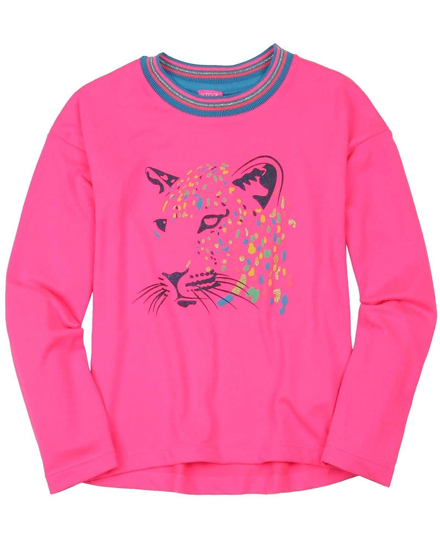 Kidz Art Girls T-Shirt with Tiger Print Sizes 6-12