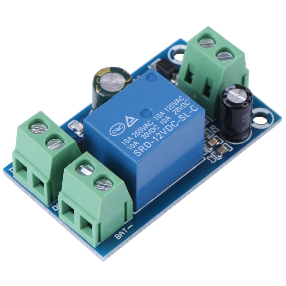 Not-Automatik-Schaltmodul DC 12V 24V 36V 48V 10A f/ür Notbatterieschaltung Keenso Power Supply Batterie-Controller