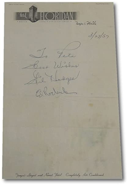 Gil Hodges Ed Roebuck Very rare Letter Written To Pete Brooklyn Dodgers PSA/DNA