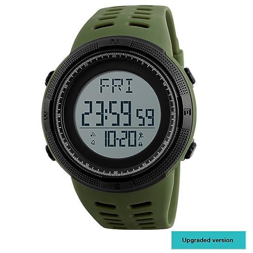 Reloj deportivo,Moda diseño fashion impermeable y cómodo multifunción resistente al agua reloj digital calendario digital alarma luminosa-H: Amazon.es: ...