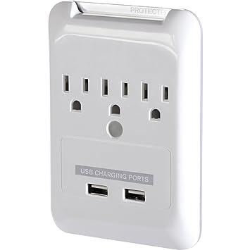 Amazon.com: Targus 6 Muro de Outlet Plug, Blanco: Computers ...