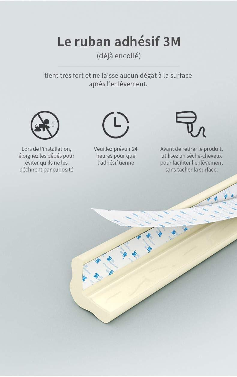 blanc cr/ème 6m + 8 garde-bordures Ensemble FLURYSAR de protection pour b/éb/és et de coussins de protection dangle I Pare-chocs de s/écurit/é pour b/éb/és