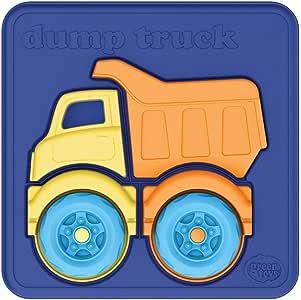 Green Toys Dump Truck Puzzle, Multi-Colour, PZDT-1161, 4 Pieces