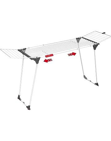 Vileda Infinity Tendedero Extensible de acero, espacio total de tendido de 27 metros, soporte