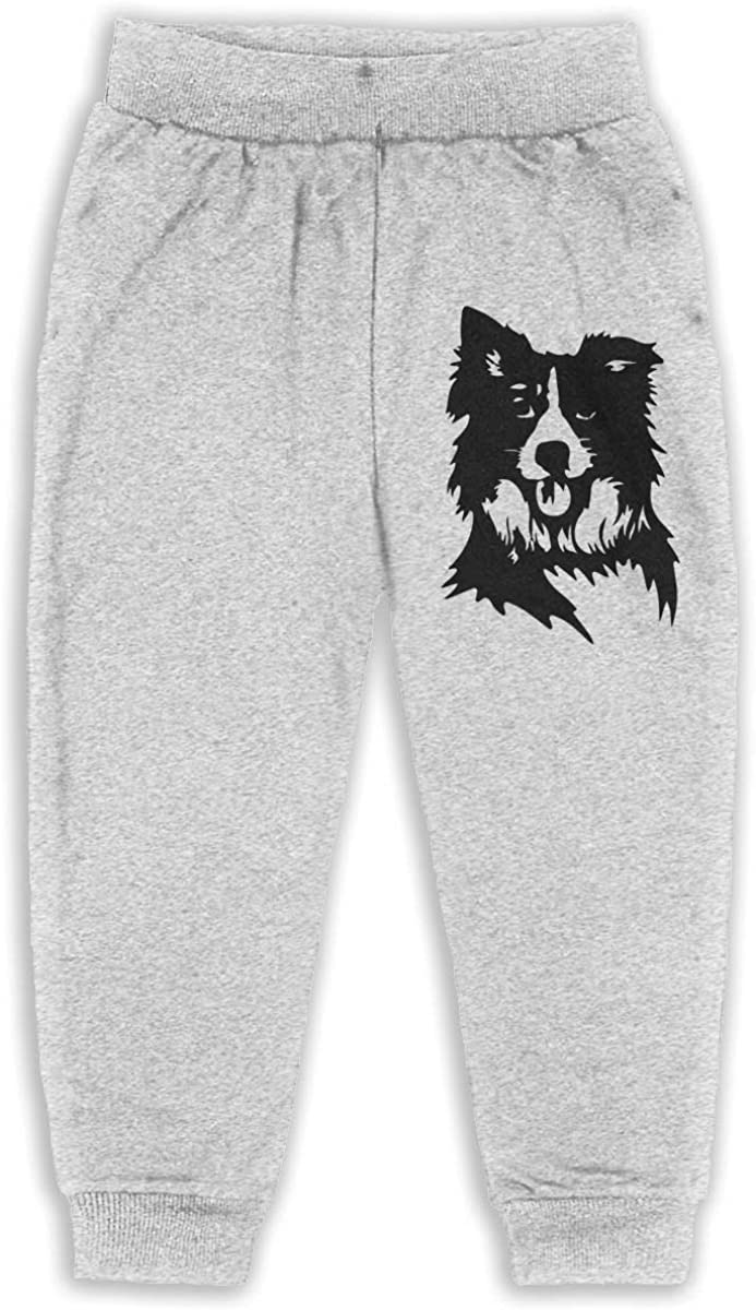 ELCW37K Kids /& Toddler Pants Soft Cozy Baby Sweatpants Border Collie Fleece Pants Sports Pants