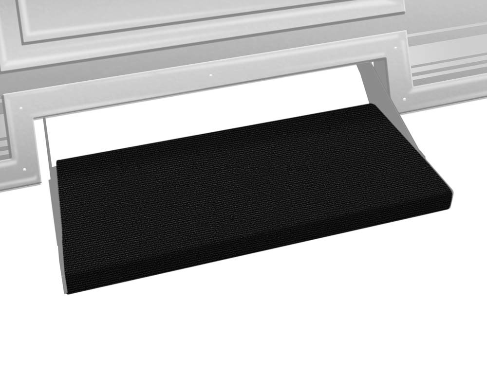Prest-O-Fit 2-0354 Outrigger RV Step Rug Black Onyx 23 In. Wide