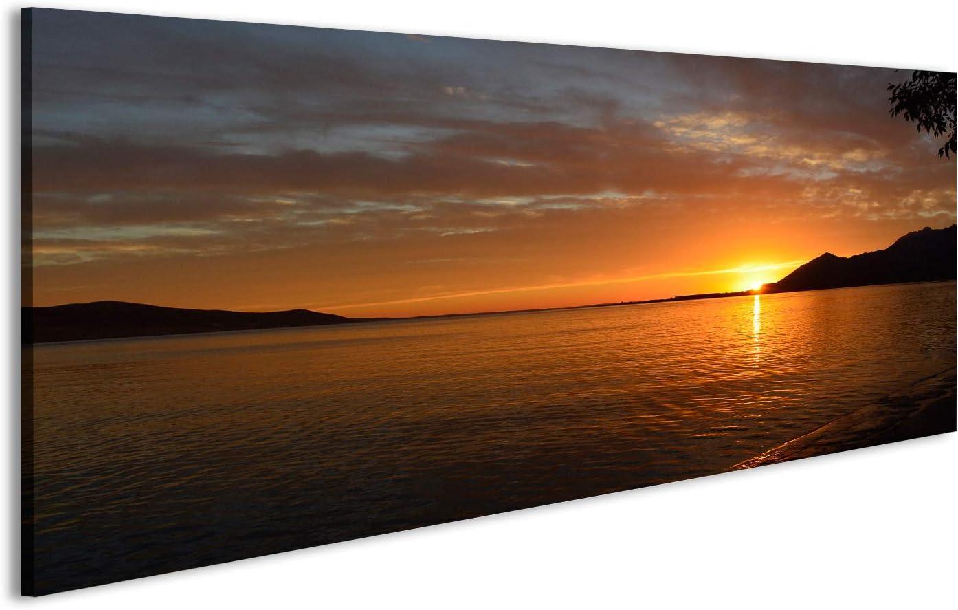 Kroatien EIN sch/öner Sommer Sonnenuntergang an der K/üste in der N/ähe von Rovanjska in Zadar Land Glasbild sehr edel FCS bilderfelix/® Bild auf Acrylglas Poster Wandbild Hochglanzpoliert