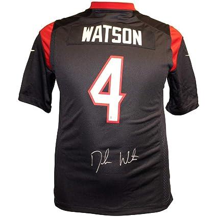 b1dedd51 Deshaun Watson Autographed Signed Houston Texans Blue Nike On Field ...