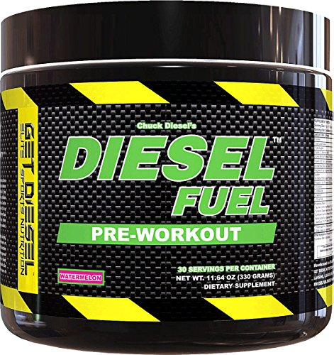 Strong preworkout for men and women DIESEL FUEL (Pick Flavor ) Natural Flavors no artificial colors (Watermelon) with 2g BCAAs delicious taste by GET DIESEL NUTRITION