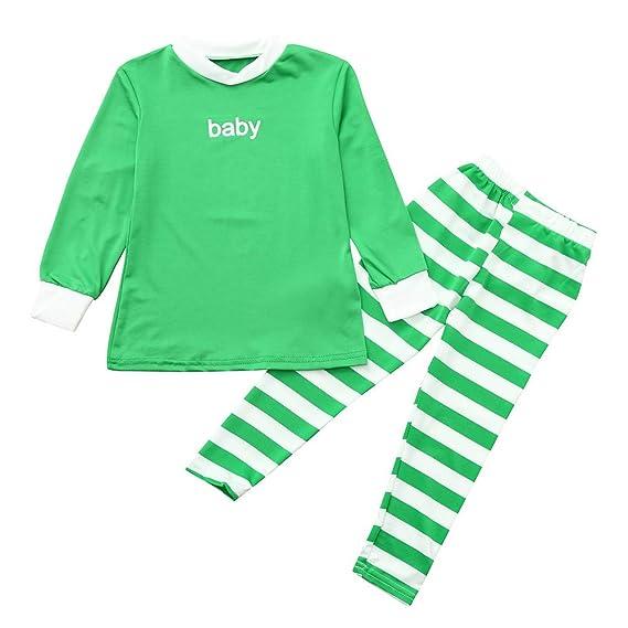 Conjuntos Bebe Niña Navidad, ❤ Zolimx Niños Niñas Bebé Familia Pijamas de Navidad PJS Camisa Pantalones de Dormir 2Pcs Ropa de Bebe Niña Recien Nacido: ...