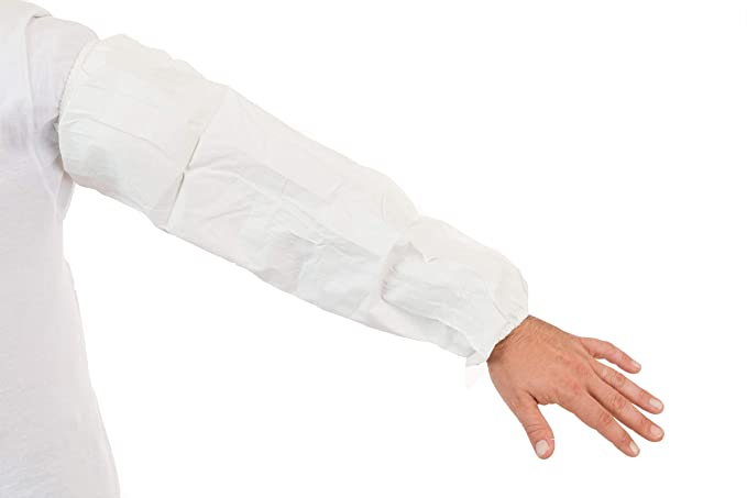 GammaGuard CE Sterile Sleeves (White) with Tunnelized Elastic Wrist, Individually Packaged (Case of 200) - - Amazon.com