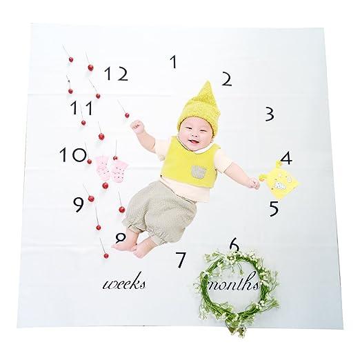 Beb/é Mensual Hito Manta Suave Infantil Reci/én Nacido Apoyos De La Foto Disparos Tel/ón De Fondo Nueva Mam/á Baby Shower Ideas De Regalos #1