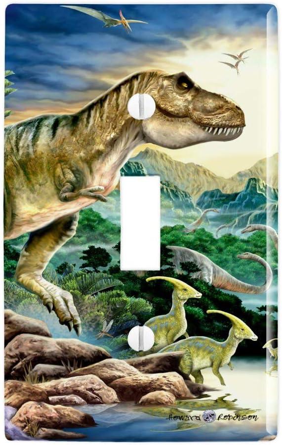 GRAPHICS & MORE Tyranosaur T-Rex Jurassic Sunset Plastic Wall Decor Toggle Light Switch Plate Cover