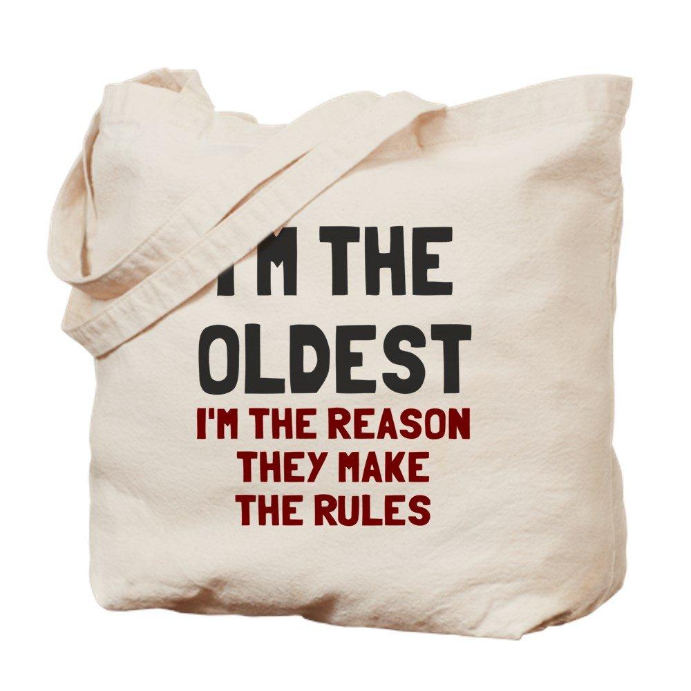 CafePress – 私は最も古いMake the Rules – ナチュラルキャンバストートバッグ、布ショッピングバッグ B01LIV2VWY