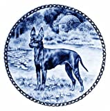 English Toy Terrier / Lekven Design Dog Plate 19.5 cm /7.61 inches Made in Denmark NEW with certificate of origin PLATE #7340