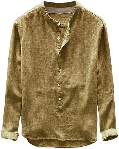 Camisa De Color Hombre Liso para Ocio Camisa De Corte ...