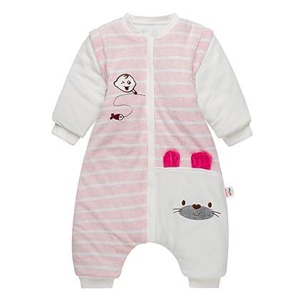 Sacos de Dormir para Bebés 3.5 Tog - Mantas para Niño Mangas Extraíbles Rayas Diseño para