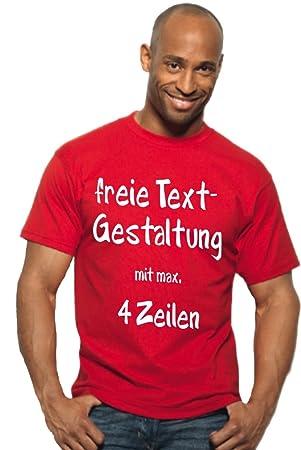 7be6585f1bd931 TH-Design T-Shirt Druck mit Wunschtext Logo eigener Grafik