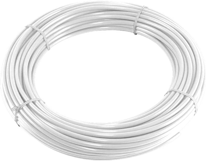 PureSec 2018 5WP3//8TU-WHITE NSF Certified CCK White PE Tubing//Hoses 3//8 Inch OD x 0.244 Inch ID at 70/°F-120PSI to 150/°F-60PSI for RODI Systems