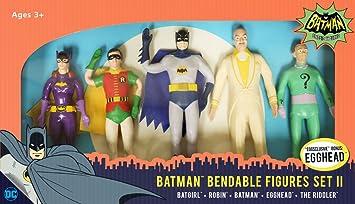 Pack 5 figuras maleables 14 cm. Batman. Versión serie TV 1966 ...