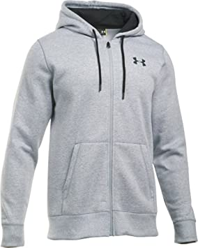 Under Armour Storm Rival Cotton Full Zip Men s Sweatshirt grey grey Size XS 000b7245657a